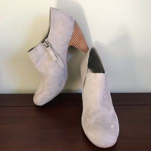 Crown Vintage Taupe Suede Ankle Boots